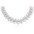 45.37ct Diamond 18k White Gold Graduated Necklace
