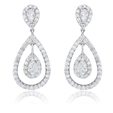 1.80ct Diamond 18k White Gold Dangle Earrings