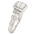 .94ct Diamond 18k White Gold Ring