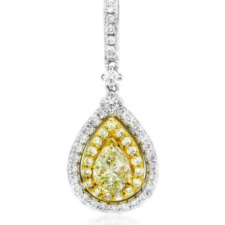 Diamond 18k Two Tone Gold Pendant