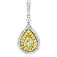 1.63ct Diamond 18k Two Tone Gold Pendant