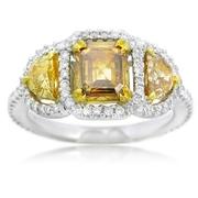 Diamond 18k Two Tone Gold Engagement Ring