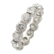 5.58ct Diamond Platinum Eternity Wedding Band Ring