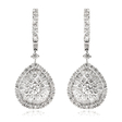 2.05ct Diamond 18k White Gold Dangle Earrings