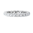 1.57ct Diamond 18k White Gold Shared Prong Eternity Wedding Band Ring