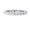 Diamond 18k White Gold Shared Prong Eternity Wedding Band Ring