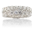 6.75ct Diamond Platinum Eternity Wedding Band Ring