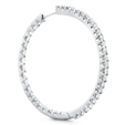1.55ct Diamond 18k White Gold Hoop Earrings