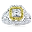 1.36ct Simon G Diamond Antique Style 18k Two Tone Gold Ring