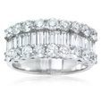 2.46ct Diamond 18k White Gold Wedding Band Ring