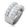 3.44ct Diamond 18k White Gold Wedding Band Ring