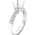 .38ct Diamond Antique Style Platinum Engagement Ring Setting