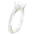 .56ct Simon G Diamond Antique Style 18k Two Tone Gold Engagement Ring Setting