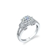 .70ct Simon G Diamond 18k White Gold Engagement Ring Setting
