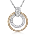 .43ct Simon G Diamond Antique Style 18k Two Tone Gold Pendant Necklace