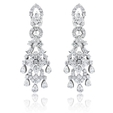 3.46ct Diamond 18k White Gold Chandelier Earrings