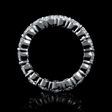 4.06ct Diamond Platinum Eternity Wedding Band Ring
