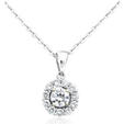 .39ct Diamond 18k White Gold Pendant Necklace