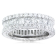 4.33ct Diamond 18k White Gold Eternity Wedding Band Ring