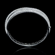13.02ct Leo Pizzo Diamond 18k White Gold Bangle Bracelet