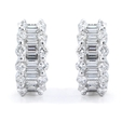 1.04ct Diamond 18k White Gold Huggie Earrings