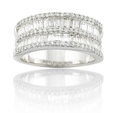 1.68ct Diamond 18k White Gold Wedding Band Ring