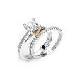 .34ct Simon G Diamond Platinum & 18k Pink Gold Engagement Ring Setting and Wedding Band Set