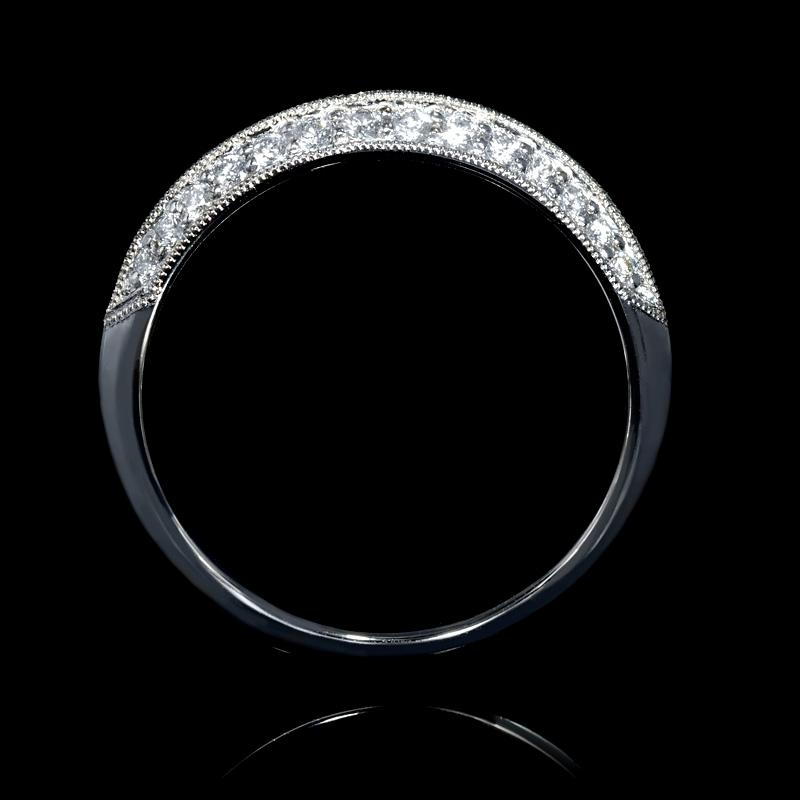 Antique Style 4 2mm Platinum Men S Wedding Band With: .25ct Diamond Antique Style Platinum Knife-Edge Wedding