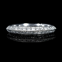 Diamond Antique Style Platinum Knife-Edge Wedding Band Ring