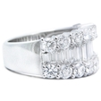 2.89ct Diamond 18k White Gold Wedding Band Ring