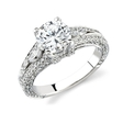 Natalie K Diamond Platinum Engagement Ring Setting
