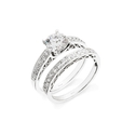 .42ct Simon G Diamond Platinum Engagement Ring Setting and Wedding Band Set