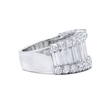 4.02ct Diamond 18k White Gold Wedding Band Ring