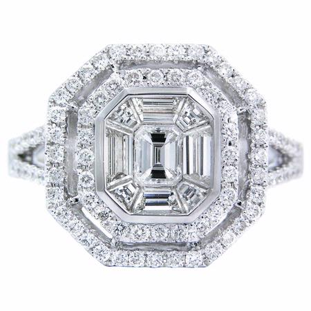 1.54ct Diamond 18k White Gold Ring