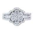 1.00ct Diamond 18k White Gold Ring