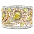 1.00ct Simon G Diamond Antique Style 18k Three Tone Gold Ring