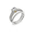 .24ct Simon G Diamond Antique Style Platinum and 18k Yellow gold Engagement Ring Setting and Wedding Band Set