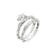 .56ct Simon G Diamond Antique Style Platinum Engagement Ring Setting and Wedding Band Set