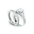 1.03ct Simon G Diamond Platinum Engagement Ring Setting and Wedding Band Set