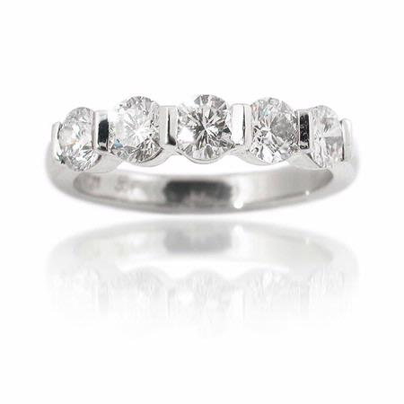1.29ct Diamond Platinum Wedding Band Ring