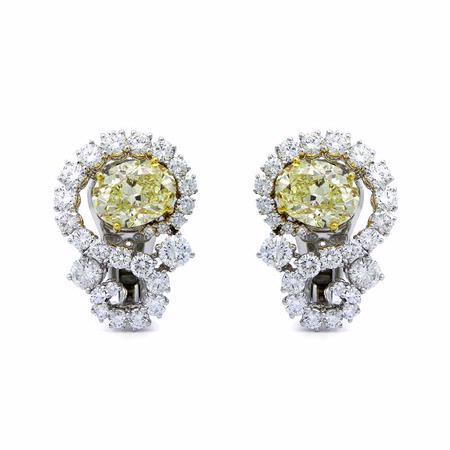 5.64ct Diamond 18k White Gold Earrings