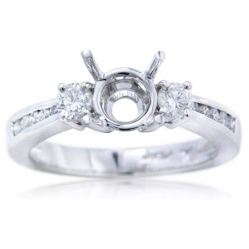 43ct Diamond Platinum Engagement Ring Setting