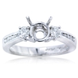 .43ct Diamond Platinum Engagement Ring Setting