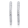 1.09ct Diamond 18k White Gold Hoop Earrings