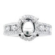 .66ct Diamond Platinum Halo Engagement Ring Setting