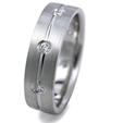 .32ct Men's Diamond 14k White Gold Wedding Band Ring