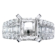 1.22ct Diamond Platinum Engagement Ring Setting