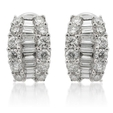 1.43ct Diamond 18k White Gold Earrings
