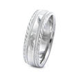 Men's Antique Style Platinum wedding Band Ring