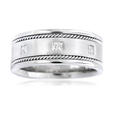 .40ct Men's Diamond 18k White Gold Wedding Band Ring